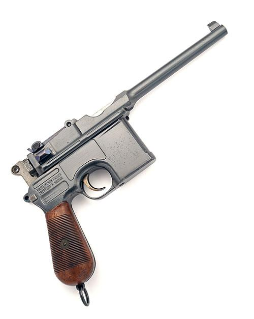 MAUSER, GERMANY A GOOD 7.63 (MAUSER) SEMI-AUTOMATIC PISTOL, MODEL ''C96 ''BROOMHANDLE'' COMMERCIAL'', serial no 79904,