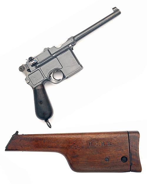 MAUSER, GERMANY A 7.63 (MAUSER) SEMI-AUTOMATIC PISTOL, MODEL ''C96 CONE-HAMMER'', serial no. 11403, WITH MATCHING HOLSTER-STOCK,