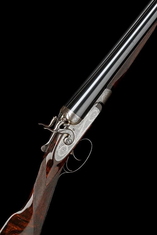 J. PURDEY & SONS A 12-BORE BAR-IN-WOOD TOPLEVER HAMMERGUN, serial no. 10612,