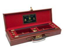 JAMES PURDEY & SONS A VIRTUALLY UNUSED LEATHER CASED GUN-CLEANING KIT