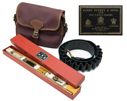 JAMES PURDEY & SONS A COLLECTION OF SHOTGUN ACCESSORIES,