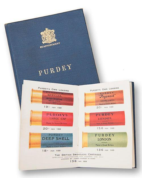 A ''PURDEY CARTRIDGES AND GAME REGISTER'' BOOKLET,