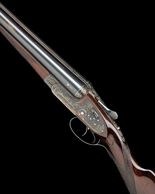 AYA A 12-BORE ''NO.2'' HAND-DETACHABLE SIDELOCK EJECTOR, serial no. 338200,