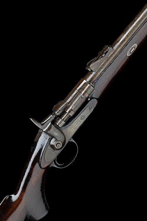 T. TURNER, BIRMINGHAM A SCARCE .577-450 (MKI CASE) SINGLE-SHOT SPORTING-RIFLE, MODEL 'SNIDER'S PATENT', no visible serial number,