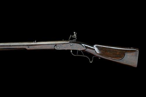 A 16-BORE FLINTLOCK JAEGER-CARBINE, no visible serial number,