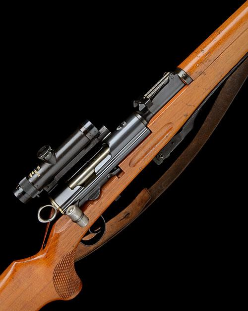 ** SCHMIDT RUBIN, SWITZERLAND A RARE 7.5x55mm STRAIGHT-PULL REPEATING SNIPER-RIFLE, MODEL ''ZF-K31'' SNIPER'', serial no. 5073,