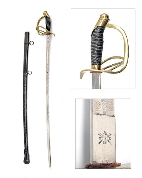 A WORLD WAR ONE OR EARLIER TURKISH ARMY OFFICER''S SWORD,