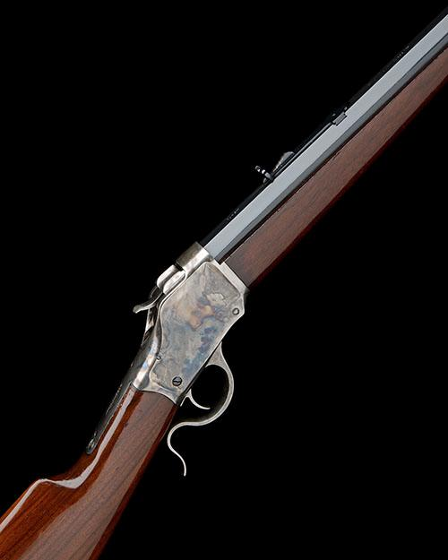 A. UBERTI, ITALY A REPRODUCTION .45-70 SINGLE-SHOT FALLING-BREECH TARGET-RIFLE, MODEL ''WINCHESTER''S 1885 HIGHWALL'', serial no. 70,