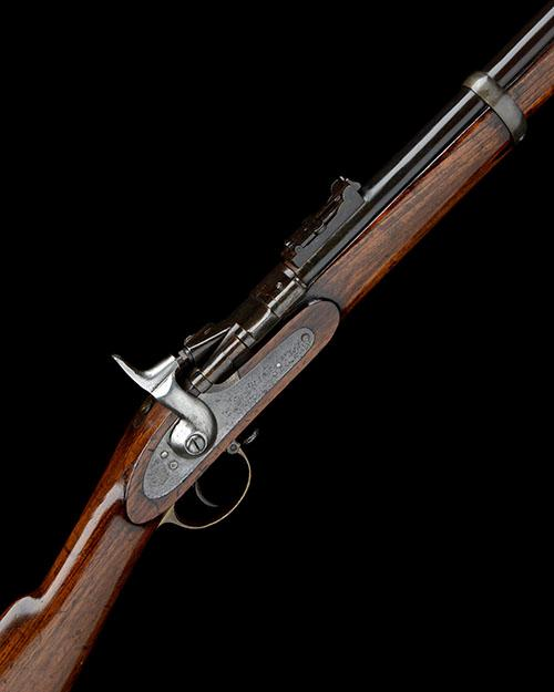 A .577 (SNIDER) BREECH-LOADING SINGLE-SHOT SERVICE RIFLE, UNSIGNED, MODEL ''SNIDER THREE-BAND'', no visible serial number,
