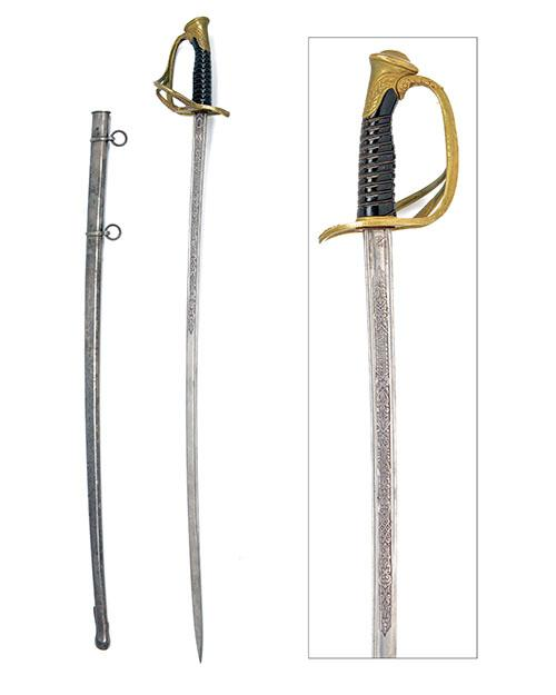 A SPANISH OFFICER''S MODEL 1870 CAVALRY SWORD,
