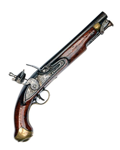 TOWER A .650 (REGULATION) FLINTLOCK SERVICE-PISTOL, no visible serial number,