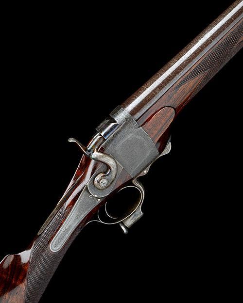 STEPHEN GRANT A FINE AND RARE 12-BORE HENRY 1865 PATENT FALLING-BLOCK SPORTING GUN, serial no. 4056,
