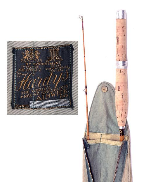HARDY'S A VIRTUALLY UNUSED 'THE CC DE FRANCE' PALAKONA TWO-PIECE SPLIT-CANE TROUT FISHING ROD,