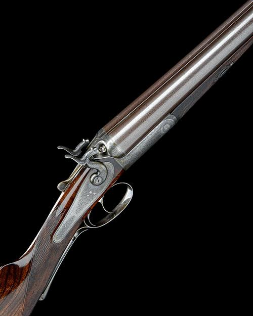J. PURDEY A 12-BORE TOPLEVER HAMMERGUN, serial no. 8848,