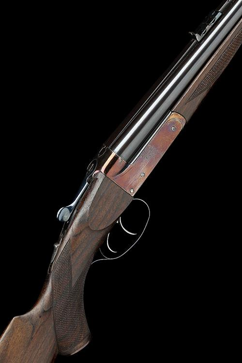 WEBLEY & SCOTT LTD. A .22 SAVAGE HIGH-POWER BOXLOCK NON-EJECTOR DOUBLE RIFLE, serial no. 13610,