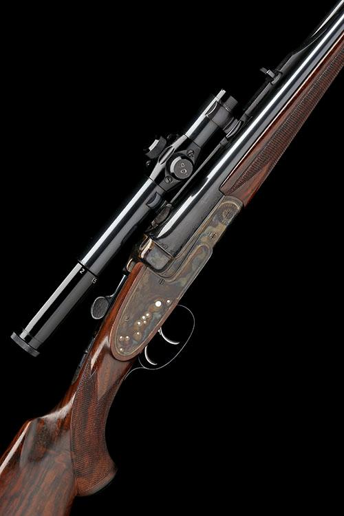 LUDWIG BOROVNIK A .30-06 SIDELOCK EJECTOR DOUBLE RIFLE, serial no. 9118,
