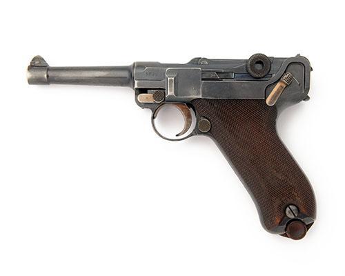 DWM, GERMANY A 9mm (PARA) SEMI-AUTOMATIC SERVICE-PISTOL, MODEL ''P08 LUGER'', serial no. 6836,