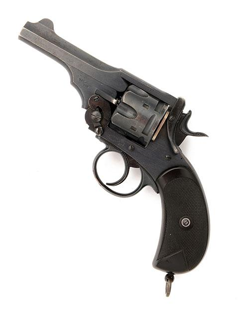 P. WEBLEY & SON, LONDON & BIRMINGHAM A .450/.455 SIX-SHOT DOUBLE-ACTION REVOLVER, MODEL ''MARK IV'' serial no. 128277,
