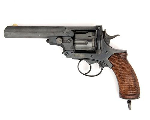WILLIAM POWELL & SON, BIRMINGHAM A .476 SIX-SHOT REVOLVER, MODEL ''WEBLEY''S No.4 PRYSE'', serial no. 10377,
