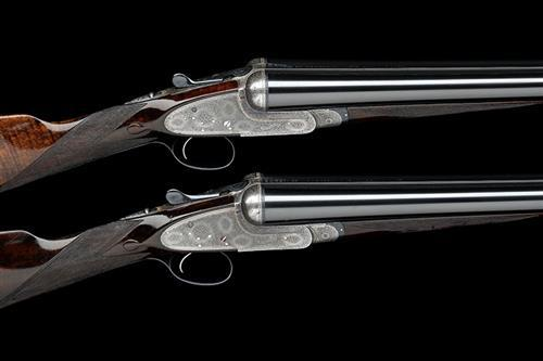 BOSS & CO. A PAIR OF 12-BORE SINGLE-TRIGGER EASY-OPENING SIDELOCK EJECTORS, serial no. 4945 / 6,