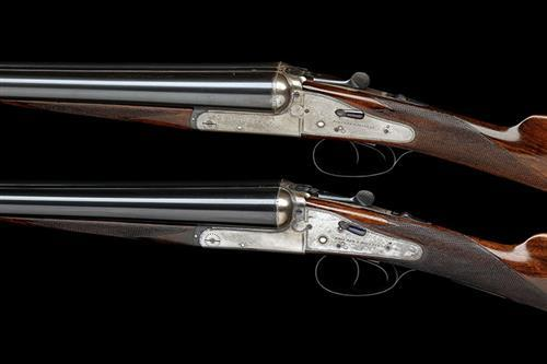 HOLLAND & HOLLAND A MATCHED PAIR OF 12-BORE ''NO.3 MODEL'' HAND-DETACHABLE BACK-ACTION SIDELOCK EJECTORS, serial no. 30139 / 31281,