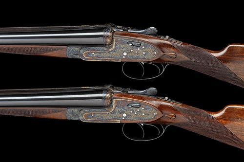 AYA A PAIR OF 12-BORE ''MODEL 25'' HAND-DETACHABLE SIDELOCK EJECTORS, serial no. 376363 / 4,
