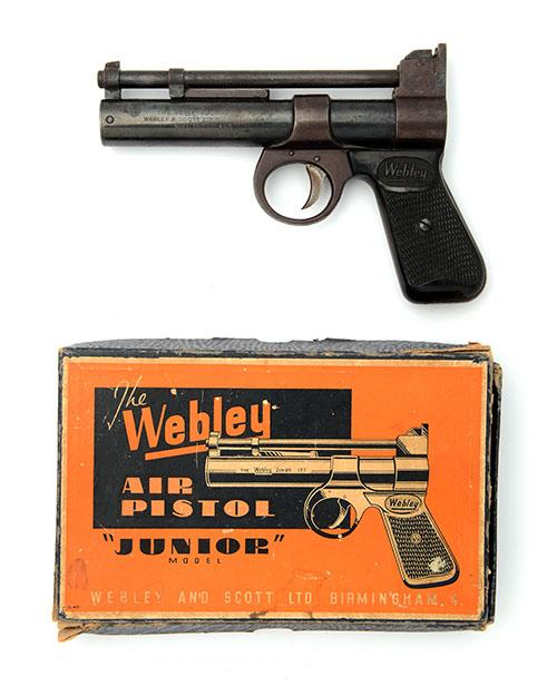 WEBLEY & SCOTT, BIRMINGHAM A BOXED .177 BARREL-COCKING AIR-PISTOL, MODEL ''JUNIOR'', batch no. 304,