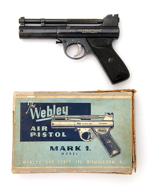 WEBLEY & SCOTT, BIRMINGHAM A BOXED .177 BARREL-COCKING AIR-PISTOL, MODEL ''MARK I'', batch no. 1388,