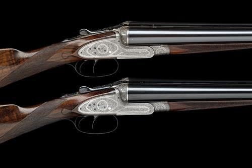 WILLIAM POWELL & SON A PAIR OF 12-BORE SIDELOCK EJECTORS, serial no. 10858 / 9,