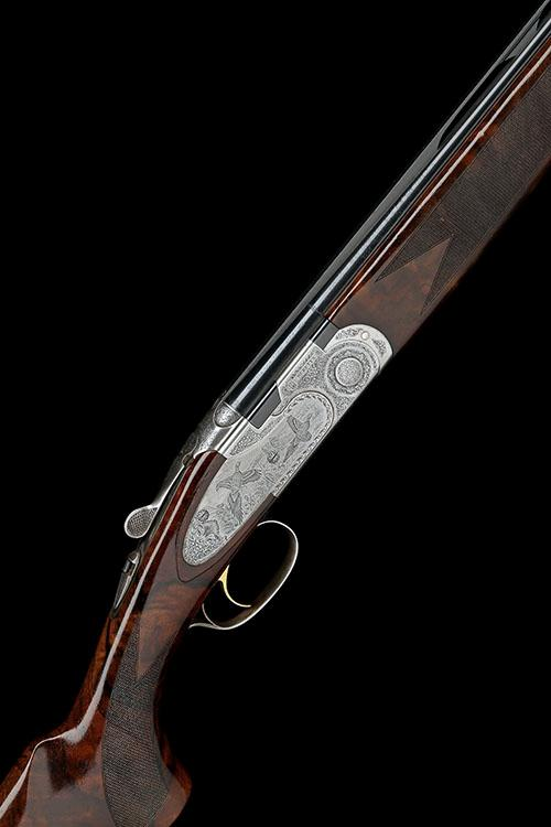 BERETTA A 28-BORE ''687 EELL DIAMOND PIGEON'' SINGLE-TRIGGER OVER AND UNDER EJECTOR, with extra .410 barrels, serial no. R38418S,
