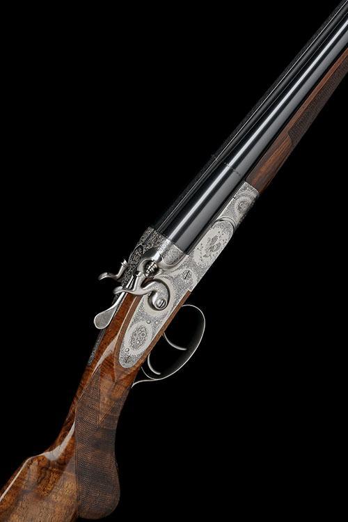 P. BERETTA A FINE AND RARE GIOVANELLI-ENGRAVED 28-BORE TOPLEVER HAMMERGUN, serial no. C72560,