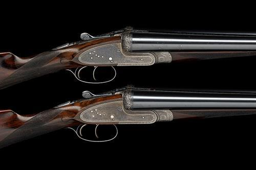 ** CHARLES HELLIS A LIGHTWEIGHT PAIR OF 12-BORE SIDELOCK EJECTORS, serial no. 3579 / 80,