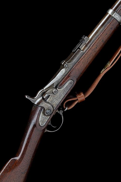 SPRINGFIELD ARMORY, USA A .50-70 (GOVT) SINGLE-SHOT BREECH-LOADING SERVICE-RIFLE, MODEL ''1868 TRAPDOOR'', serial no. 8469,
