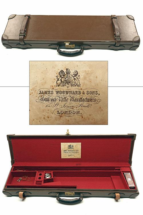 JAMES WOODWARD & SONS A LIGHTWEIGHT LEATHER SINGLE GUNCASE,