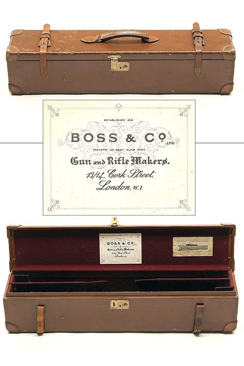 BOSS & CO. A LEATHER DOUBLE MOTOR CASE,