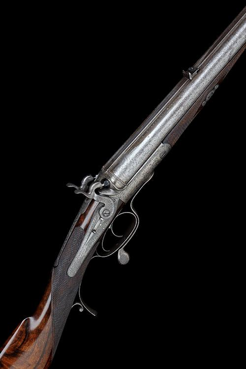 JOHN DICKSON & SON A .500 / 450 No.1 (2 3/4IN.) BLACK POWDER EXPRESS ROTARY-UNDERLEVER DOUBLE-BARRELLED HAMMER RIFLE, serial no. 2833.