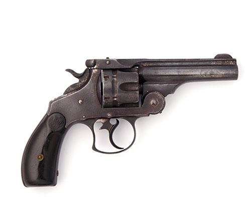 SMITH & WESSON, USA A .44 (RUSSIAN) SIX-SHOT REVOLVER, MODEL ''DOUBLE-ACTION FIRST MODEL'', serial no. 12011, WITH FACTORY LETTER,