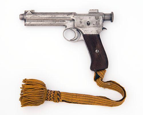 STEYR, AUSTRIA AN 8mm (ROTH-STEYR) SEMI-AUTOMATIC SERVICE-PISTOL, MODEL ''1907 ROTH-STEYR'', serial no. 19744,