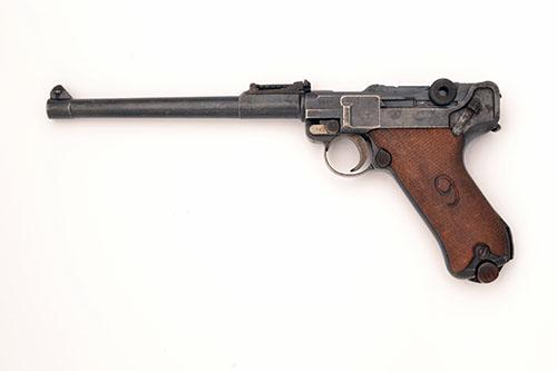 ** DWM, GERMANY A 9mm (PARA) SEMI-AUTOMATIC SERVICE-PISTOL, MODEL ''ARTILLERY LUGER or P08 LANGE'', serial no. 2701,