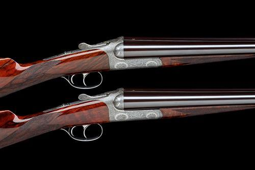 ABBIATICO & SALVINELLI A PAIR OF DASSA-ENGRAVED 12-BORE ''MODEL ZEUS'' SELF-OPENING ROUND-ACTION BOXLOCK EJECTORS, serial no. 1104 / 5.
