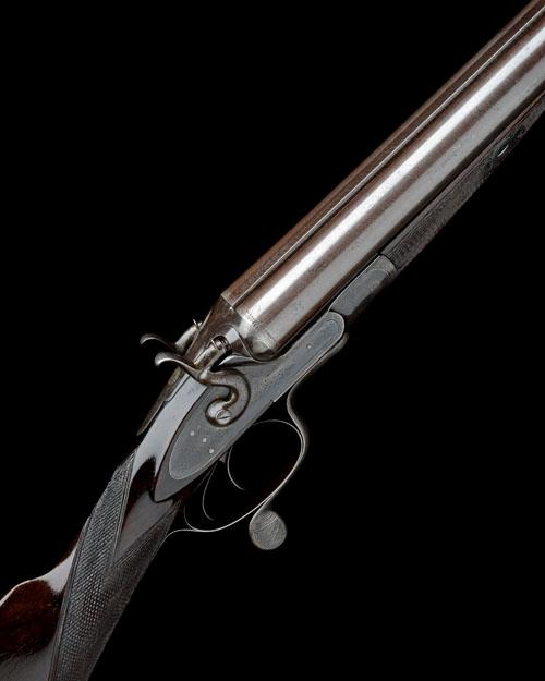 W. CHURCHMAN A 10-BORE (3IN.) DOUBLE-BARRELLED ROTARY-UNDERLEVER HAMMERGUN, no visible serial number,