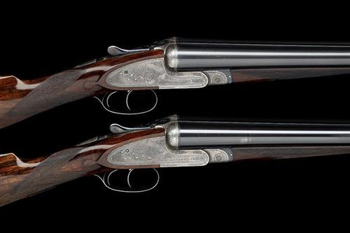 JOSEPH LANG & SON A PAIR OF 12-BORE SIDELOCK EJECTORS, serial no. 16510 / 1,