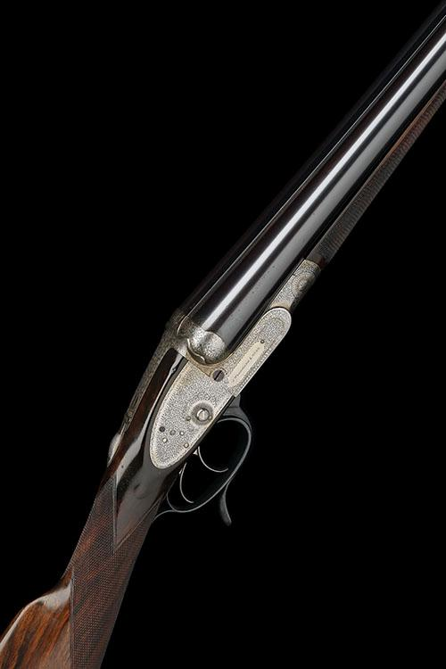 J. WOODWARD & SONS A 12-BORE 1876 PATENT ''THE AUTOMATIC'' PUSH-FORWARD UNDERLEVER SIDELOCK EJECTOR, serial no. 3937,