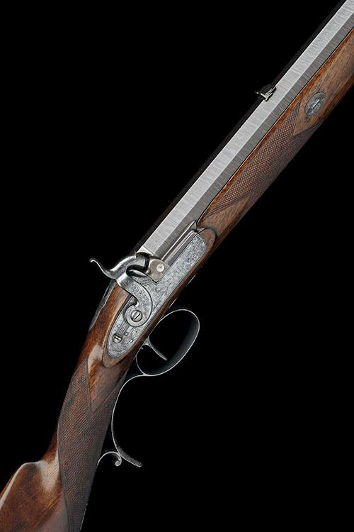 PURDEY, LONDON A 16-BORE PERCUSSION SINGLE-BARRELLED RIFLE FOR DANGEROUS GAME, serial no. 2056,