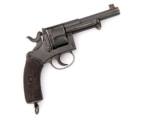 A 9.4mm (DUTCH REVOLVER) SIX-SHOT DOUBLE-ACTION SERVICE REVOLVER, UNSIGNED, MODEL ''M1873'', serial no. 334,