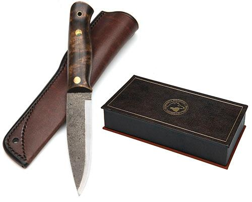 JULIUS PETTERSSON FOR RAY MEARS A SCARCE BOXED LIMITED EDITION ''WOODLORE'' BUSHKNIFE, MODEL ''25TH ANNIVERSARY'', serial no. 003,
