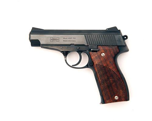 KORRIPHILA, GERMANY A SCARCE .45 (ACP) SEMI-AUTOMATIC PISTOL, MODEL ''701'', serial no. 0807,