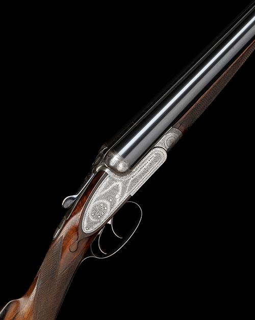 WILLIAM POWELL & SON A 12-BORE SIDELOCK EJECTOR, serial no. 10041,