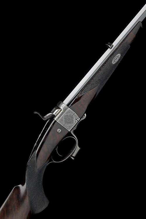 ALEXR. HENRY A .360 (2 1/4IN.) BLACK POWDER EXPRESS SECOND QUALITY 1865 PATENT FALLING-BLOCK HAMMER ROOK RIFLE, serial no. 2905,