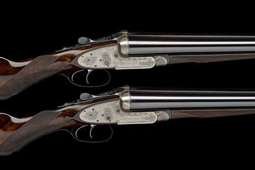 J. WOODWARD & SONS A PAIR OF 12-BORE SIDELOCK EJECTORS, serial no. 5576 / 7,